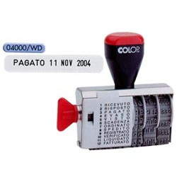 TIMBRO DATARIO POLINOMIO 12 DICITURE 4MM 04000WD (BLISTER) COLOP