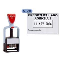 TIMBRO DATARIO PERSONALIZZABILE S360 30X45MM COLOP