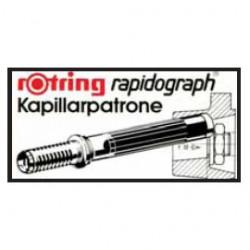 SCATOLA 3 CARTUCCE CAPILLARI NERO PER PENNE RAPIDOGRAPH