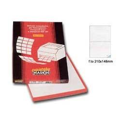 ETICHETTA ADESIVA C/509 GIALLO 100FG IN A4 (2 ETICHETTE DA 210X148MM)