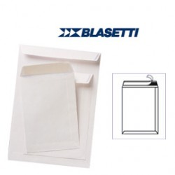100 BUSTE A SACCO BIANCHE 190X260MM 80GR C/STRIP BLASETTI