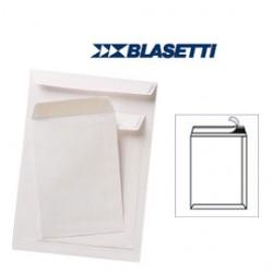 100 BUSTE A SACCO BIANCHE 250X353MM 80GR C/STRIP BLASETTI