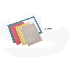100 CARTELLINE SEMPLICI ROSSO C/STAMPA 145GR