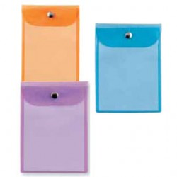 BUSTA CON BOTTONE PRESS 6 COLOR 15X21CM - ASSORTITE