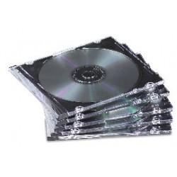 SCATOLA 25 CUSTODIE CD SLIM BASE NERA FELLOWES