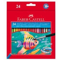 ASTUCCIO 24 PASTELLI COLORATI ACQUERELLABILI RED RANGE FABER CASTELL