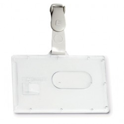 PORTABADGE RIGIDO POCKET L460 53X85MM C/CLIP IN PLASTICA
