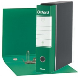 REGISTRATORE VERDE Esselte Oxford G85 F.TO PROTOCOLLO DORSO 8