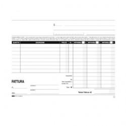 BLOCCO FATTURE 3 ALIQUOTE IVA 2COPIE 50FOGLI AUTORIC. 15X23 E5289A