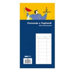 BLOCCO COMANDE A 3 TAGLIANDI 25/25 FOGLI AUTORIC. 17X9,9 E5917