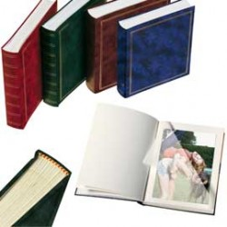 ALBUM FOTO 30x33cm 50fg in cartoncino c/velina copertina vinile MARRONE LEBEZ