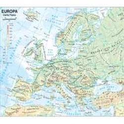 CARTA GEOGRAFICA SCOLASTICA PLASTIFICATA EUROPA 297X420MM BELLETTI
