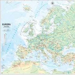 CARTA GEOGRAFICA SCOLASTICA MURALE EUROPA BELLETTI