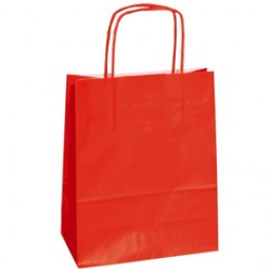 25 SHOPPERS CARTA KRAFT 45X15X50CM TWISTED rosso