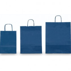 25 SHOPPERS CARTA KRAFT 45X15X50CM TWISTED blu