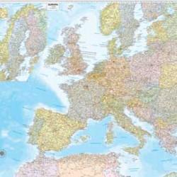 CARTA GEOGRAFICA MURALE EUROPA 132X99CM BELLETTI