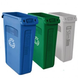 CONTENITORE SLIM JIM PER RACCOLTA DIFFERENZIATA VERDE RUBBERMAID