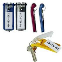 SCATOLA 6 PORTACHIAVI KEY CLIP BLU DURABLE