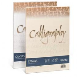 CARTA CALLIGRAPHY CANVAS 100GR A4 50FG BIANCO 01