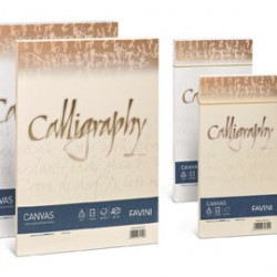 CARTA CALLIGRAPHY CANVAS 200GR A4 50FG BIANCO 01