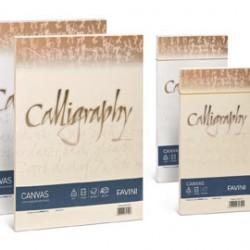 CARTA CALLIGRAPHY CANVAS 200GR A4 50FG BIANCO 01