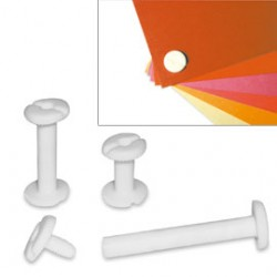 BUSTA 20 VITI SEPOLTE 10mm IN PLASTICA BIANCA