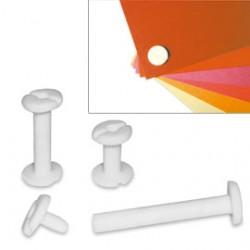 BUSTA 20 VITI SEPOLTE 20mm IN PLASTICA BIANCA