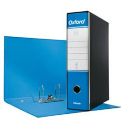 REGISTRATORE OXFORD G83 AZZURRO DORSO 8CM F.TO COMMERCIALE