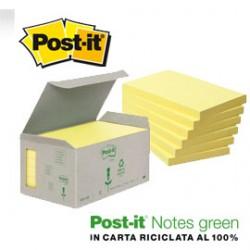 BLOCCO 100foglietti Post-itNotes Green 76x127mm 655-1B GIALLO