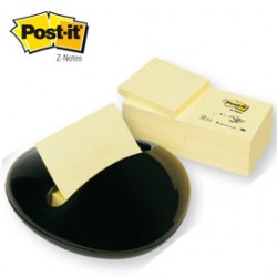 DISPENSER STONE NERO+12 RICARICHE 100fg Post-itZ-Notes 76x76mm Giallo Canary
