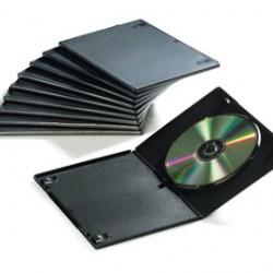 10 CUSTODIE SINGOLE SLIM PER DVD FELLOWES