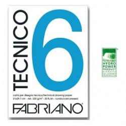 BLOCCO TECNICO 6 25x35cm 20fg 240gr liscio FABRIANO