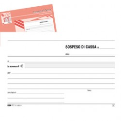 BLOCCO SOSPESO DI CASSA 50fgx2 copie autoricalcante 10x17cm E5403A EDIPRO