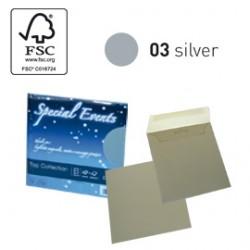 BLISTER 5buste+5biglietti f.to 17x17cm ARGENTO 03 SPECIAL EVENTS