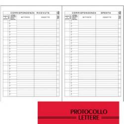 REGISTRO PROTOCOLLO LETTERE RICEVUTE-SPEDITE 21x31cm 100fg BM
