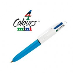 SCATOLA 12 PENNE SFERA SCATTO 4 Colours MINI 1.0mm BIC
