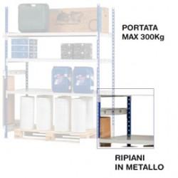 KIT 3 RIPIANI IN METALLO 100x60cm