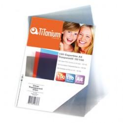 100 COPERTINE A4 PVC TRASPARENTE 150my TiTanium