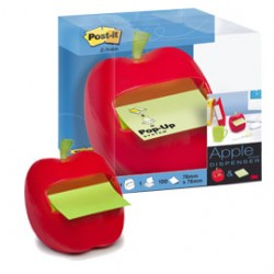 DISPENSER MELA+1 RICARICA Post-itZ-Notes 76x76mm VERDE PASTELLO/NEON