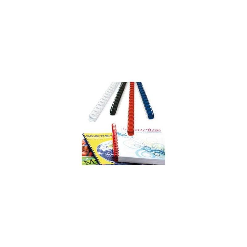 Blu 6 mm Titanium 68479 Dorso Plastico per Rilegatura