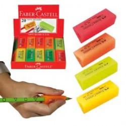 GOMMA per matita PRISMA FLUO impugnabile in vinile FABER CASTELL