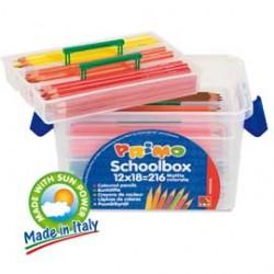 SCHOOLBOX 216 PASTELLI COLORATI LACCATI in 12 colori CMP