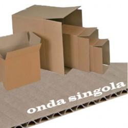SCATOLA CARTONE PER IMBALLO AVANA ONDA singola P357xL255xH273mm