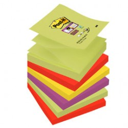 BLOCCO 90foglietti Post-itSuper Sticky Z-Notes 76x76mm R330-6SS-MARRAKESH