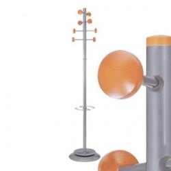 APPENDIABITI A 8 POSTI 175cm METALLO/LEGNO TIMBY Alba