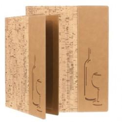 CARTA DEI VINI A4-24x34cm SUGHERO DESIGN con 1 INSERTO DOPPIO