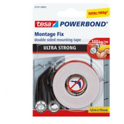 NASTRO BIADESIVO 19mmx1,5mt POWERBOND ULTRA STRONG Tesa
