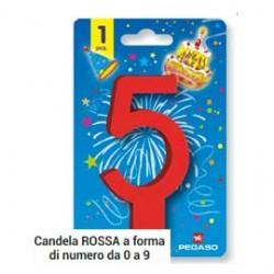 BLISTER CANDELINA N1 ROSSA 11.5CM PEGASO