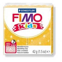 PASTA POLIMERICA FIMO KIDS 42gr ORO GLITTER 112