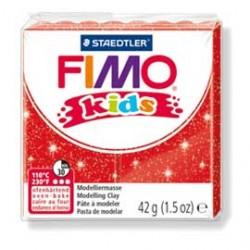PASTA POLIMERICA FIMO KIDS 42gr ROSSO GLITTER 212
